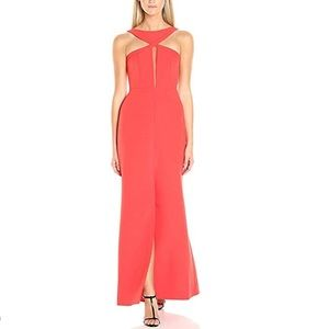 NWT Poppy Crush Long Halter-Neck Gown Dress
